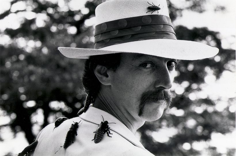 Dr. Josef Gregor (a.k.a. Joey Skaggs), entomologist, in Skaggs' Metamorphosis Roach Cure hoax