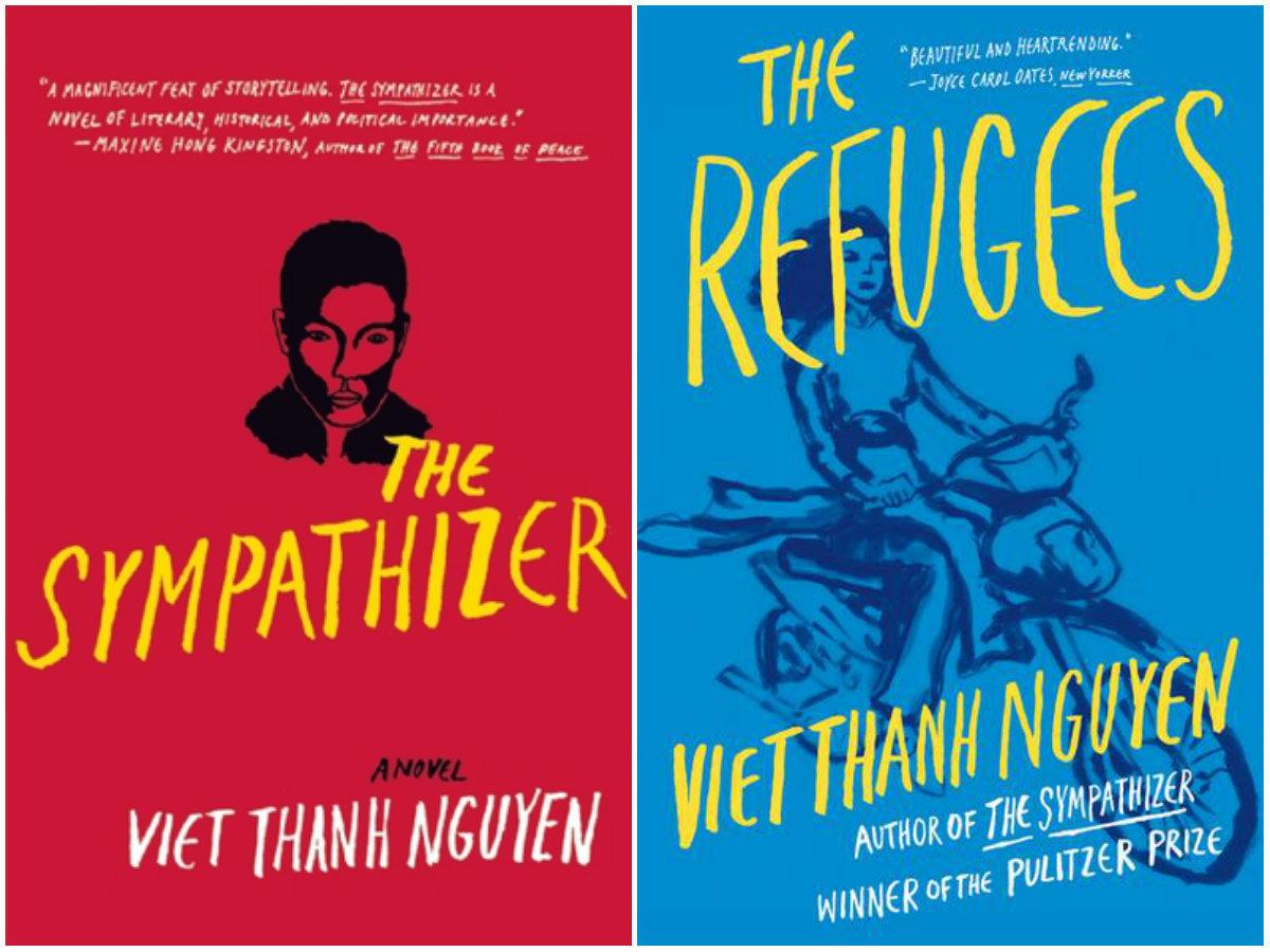 Nguyen's debut novel,<i>The Sympathizer</i>, and short story collection,<i>The Refugees</i>.