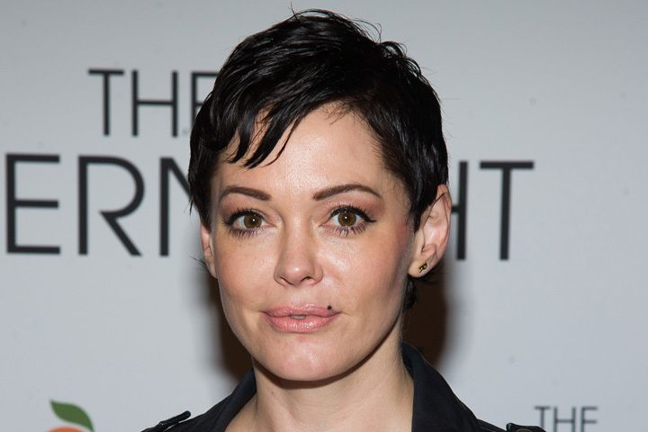 Rose McGowan at the premiere of The Overnight.