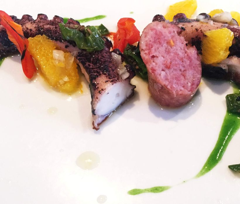 Inventive combinations such as octopus paired with housemade sausage