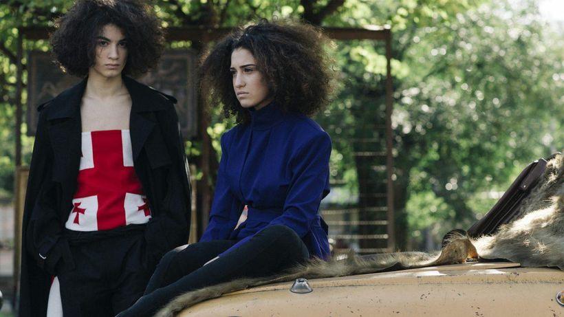 Models wearing Georgian label Situationist