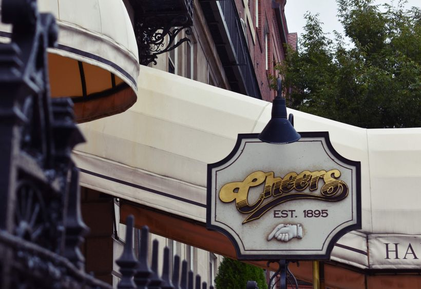 Notable location on the tour includes the exterior of the bar from <em>Cheers</em>