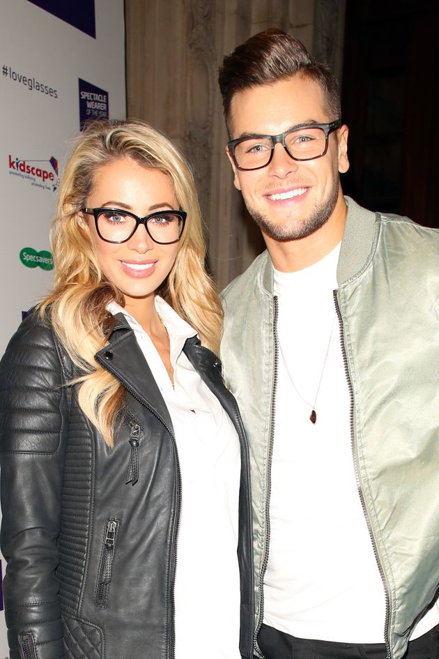 Olivia Attwood and Chris Hughes at the Specsavers Spectacle Wearer Of The Year