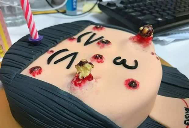 This Spot-Squeezing Cake Might Put You Off