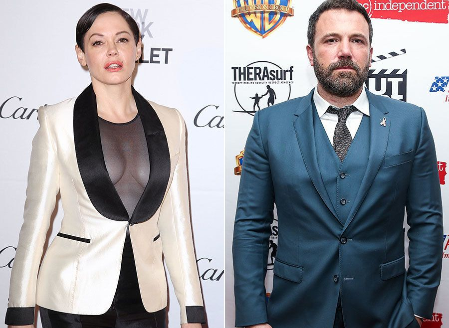 Rose McGowan Accuses Ben Affleck Of 'Lying' In His Statement About Harvey