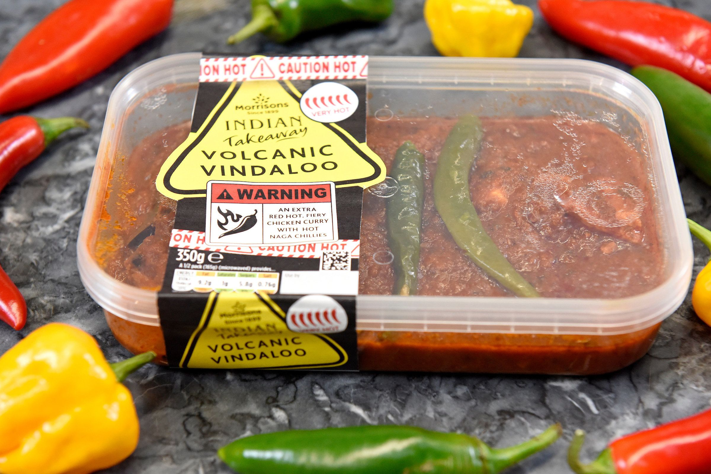 The supermarket curry so hot it comes with a safety warning