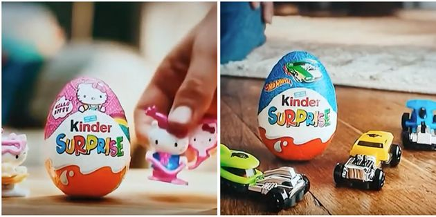 Kinder Surprise Slammed For 'Sexist' Pink And Blue Packaging And