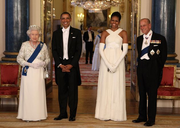 The Queen and Barack Obam on his State Visit in