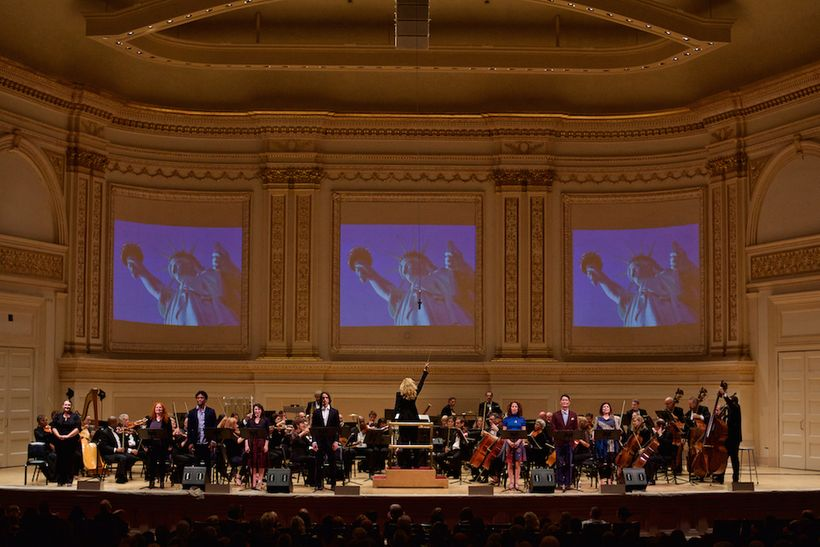 Conductor Amy Andersson and the Orchestra Moderne NYC at Carnegie Hall