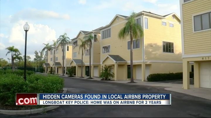 The couple said they were never informed that they'd be filmed inside of the rental, pictured among these townhouses.