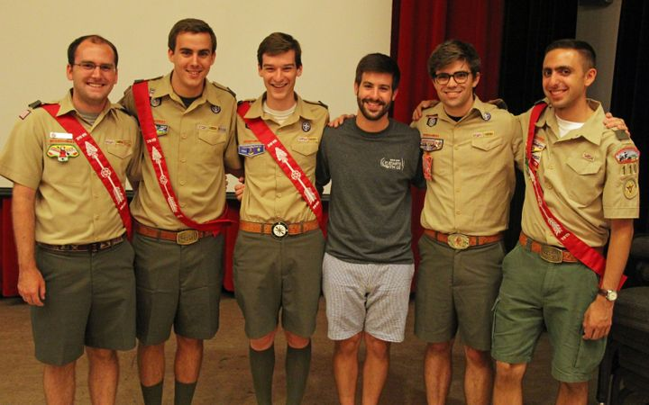 Ryan (second from the left) at a conference with Mike (far right) and some other Scouting friends.