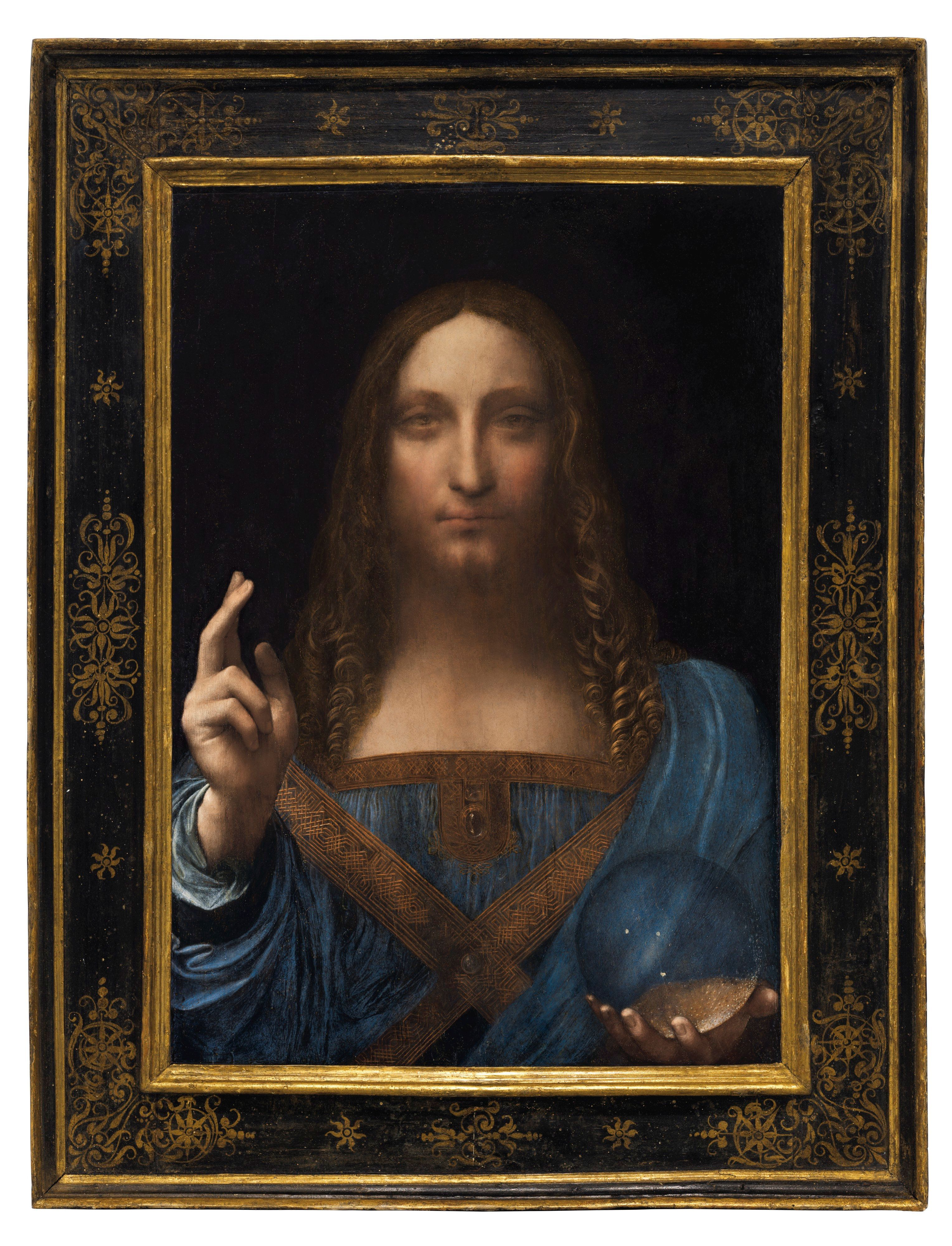 """Salvator Mundi,"" an ethereal portrait of Jesus Christ which dates to about 1500, is the last privately owned Leonardo da Vin"