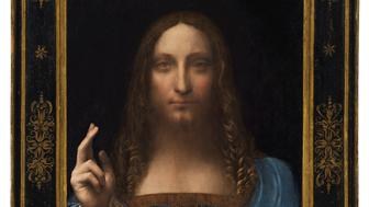 """""""Salvator Mundi,"""" an ethereal portrait of Jesus Christ which dates to about 1500, the last privately owned Leonardo da Vinci painting, is on display for the media at Christie's auction in New York, NY, U.S., October 10, 2017.   Courtesy Christie's New York/Handout via REUTERS  ATTENTION EDITORS -   THIS IMAGE HAS BEEN SUPPLIED BY A THIRD PARTY.  FOR EDITORIAL USE ONLY. NO RESALES. NO ARCHIVES"""