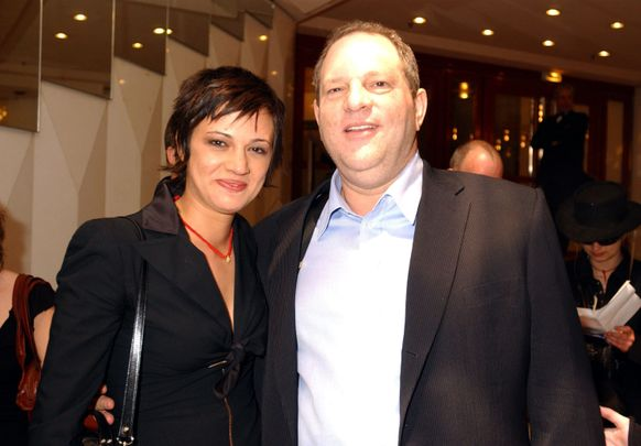 Asia Argento and Harvey Weinstein during 2004 Cannes Film Festival - 'The Heart Is Deceitful Among All Things' - Premiere at Noga Croisette in Cannes, France. (Photo by Denise Truscello/WireImage)