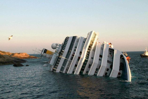 A photograph taken the morning after the Costa Concordia ran
