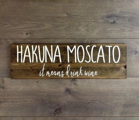 "This rustic sign will complement any at-home bar or kitchen space. Get it on <a href=""https://www.etsy.com/listing/521388333/"