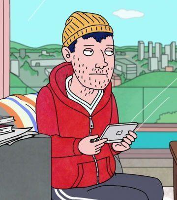 "Get Todd's iconic runway <a href=""https://www.amazon.com/Yellow-Knit-Cap-Beanie-Minion/dp/B017HJJCDM?tag=thehuffingtop-20"" ta"