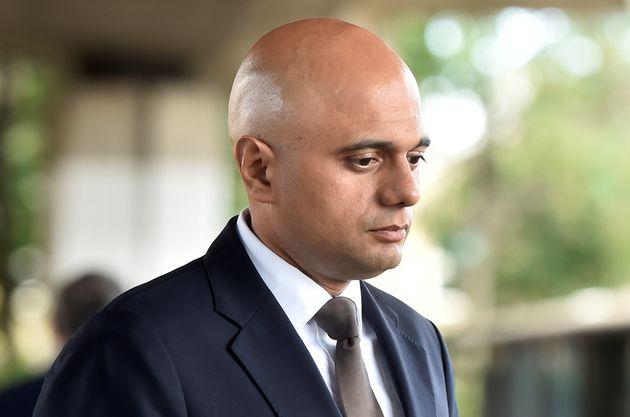 Communities and Local government Secretary, Sajid Javid visits the scene of the fire at Grenfell