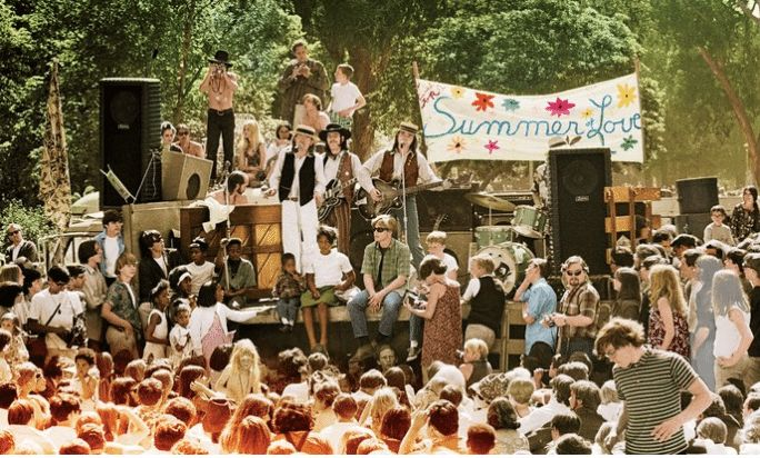 The Summer of Love occurred in the summer of 1967 when up to 100,000 young hippies converged on San Francisco's Haight Ashbur
