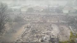 Horrifying Drone Footage Shows Wildfire Devastation In
