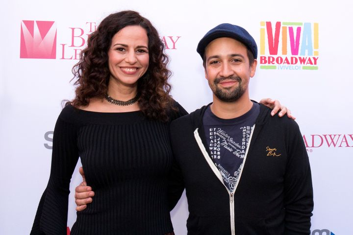"""I feel like my voice is synced with Lin after doing so many projects together,"" Mandy Gonzalez said of ""Hamilton"" creator Li"
