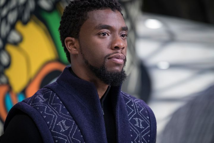 "Chadwick Boseman stars in ""Black Panther."""