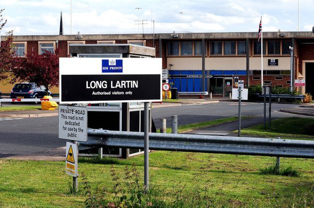 The entrance to Long Lartin prison in