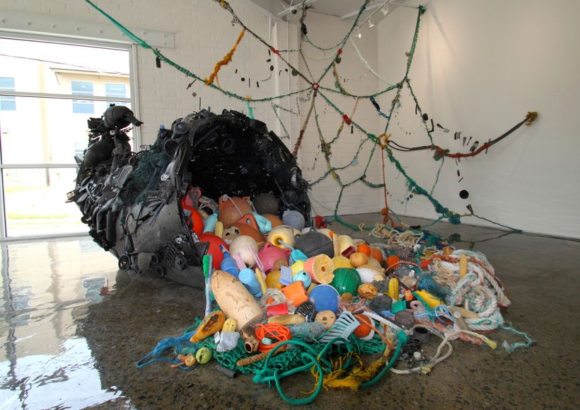 Pam Longobardi's <em>Bounty Pilfered</em>, 2014. Ocean plastic from Alaska, Greece, Hawaii, Costa Rica and the Gulf of Mexico