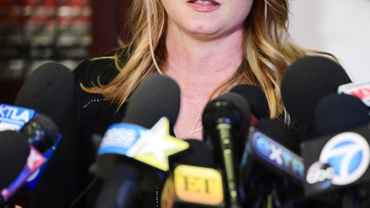 Louisette Geiss, a former actress who once met with Harvey Weinstein to discuss her screenwriting, said at a news conference...