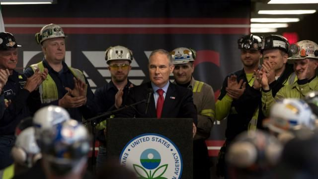 EPA chief Scott Pruitt just issued a rule to repeal an Obama-era regulation limiting power plant carbon emissions.