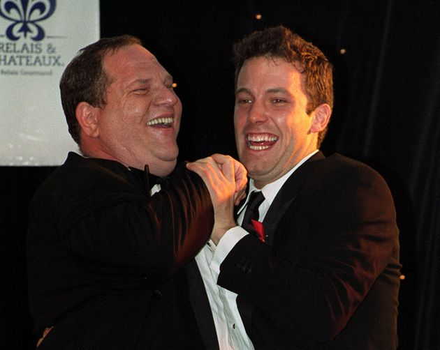 Ben Affleck (right) with Harvey