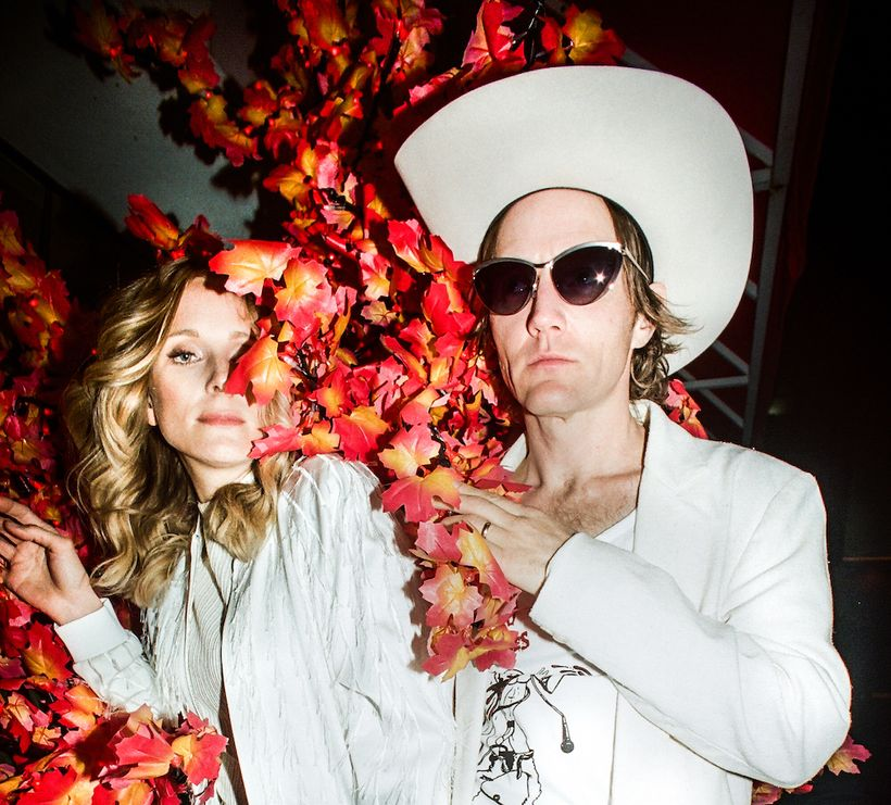 "Luke Doucet (right) and Melissa McClelland, the daring, darling duo of Whitehorse, present the music video premiere of ""Pink"