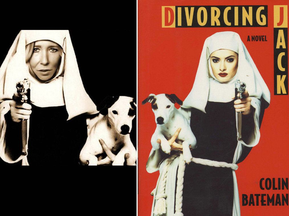 The 'nun with a gun' image of Sally Jones is actually a crude photoshop of the Divorcing Jack