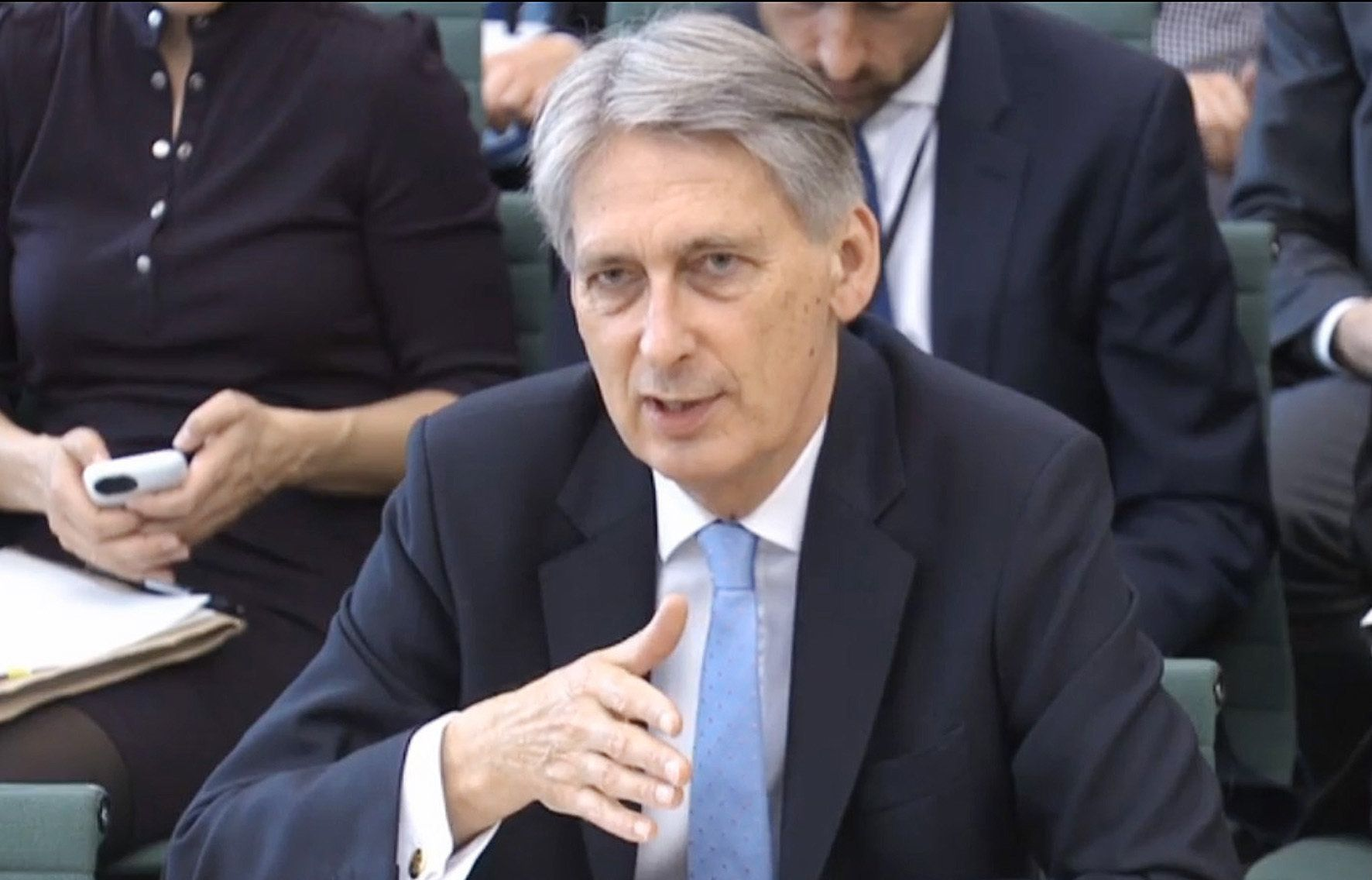 PA Wire  PA Images Chancellor Philip Hammond answering questions at the Commons Treasury Select Committee in Westminster London