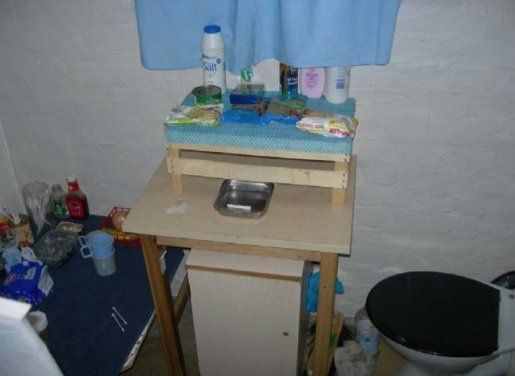 Inside a cell atHMP Birmingham. Image from HM Inspectorate of Prisons report on living conditions,...