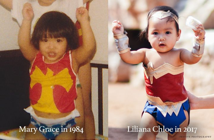 """""""It just tickled me to see my baby girl as Wonder Woman because I also dressed up as her as a little girl,"""" said"""