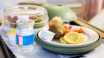 A meal tray being served at a hospital.  rrRM