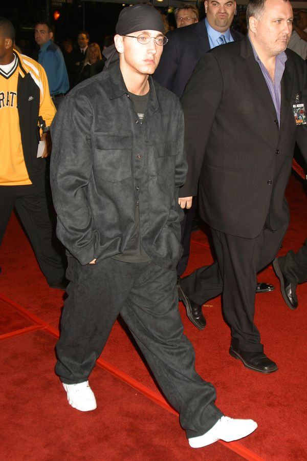 """At the premiere of """"8 Mile"""" in Los Angeles, California."""