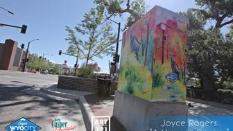 A View in Casper by Joyce Rogers Rogers work was selected as the peoples choice winner Located at the NE corner of the intersection of Yellowstone and Ash Streets