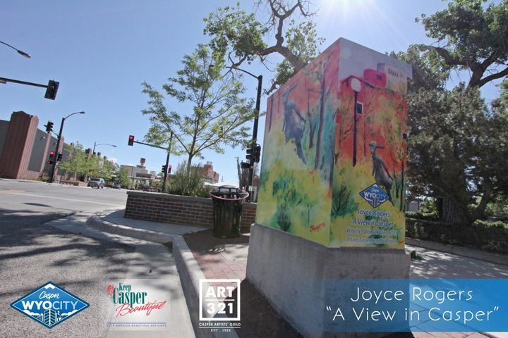 """A View in Casper"" by Joyce Rogers. Rogers' work was selected as the people's choice winner. Located at the NE corner of the"