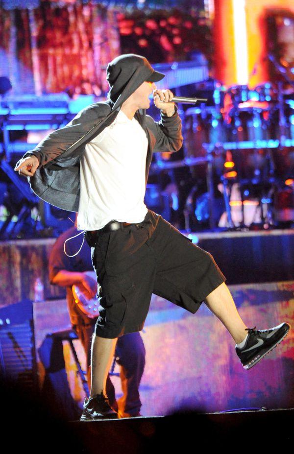 Performing at Coachella in Indio, California.