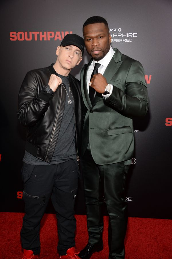 """With 50 Cent at the """"Southpaw"""" in New York, New York."""