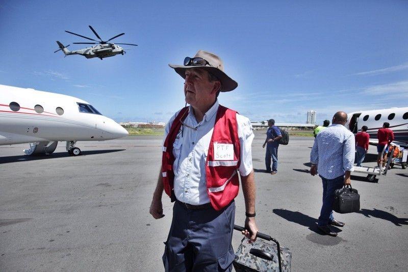 Scott Lewis, founder of Eagles Wings Pathfinders foundation in San Juan, Puerto Rico.