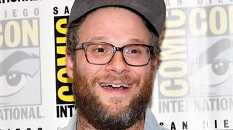 SAN DIEGO, CA - JULY 22:  Executive producer Seth Rogen at Hulu's 'Future Man' Press Line duirng Comic-Con International 2017 at Hilton Bayfront on July 22, 2017 in San Diego, California.  (Photo by Dia Dipasupil/Getty Images)