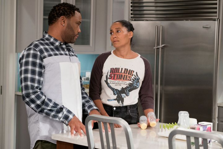 "On Tuesday's episode, ""Black-ish"" explored postpartum depression."