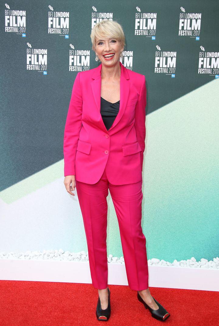 Emma Thompson the 61st BFI London Film Festival in October 2017.
