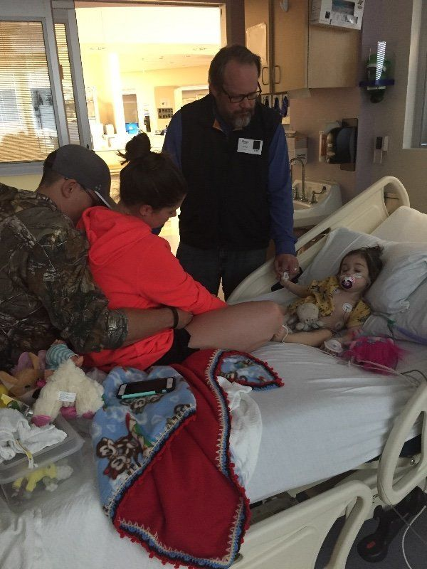 Sophie is being treated at Children's Medical Center in