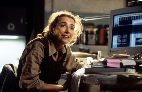 """Junior"" provides two Emma Thompson rarities: a broad studio comedy and an imperfect ponytail that's let loose when she"