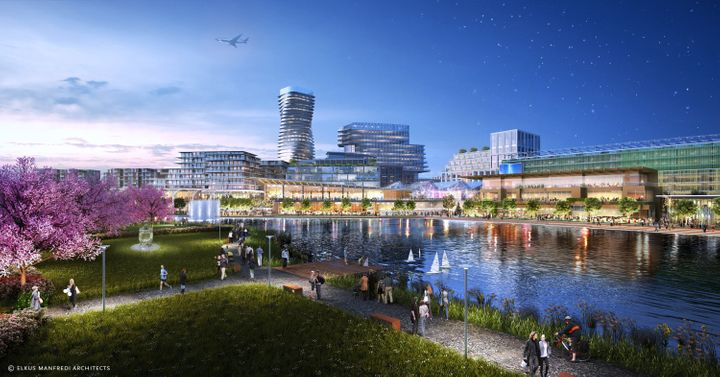 An artist's rendering of the future of Union Point.