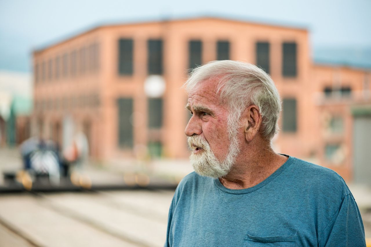 Doug Thomson lives just a short walk from his former job at the railroad yards in Livingston.